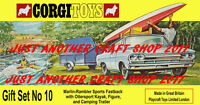 Corgi Toys GS 10 Rambler Marlin & Trailer Gift Set Poster Advert Leaflet Sign