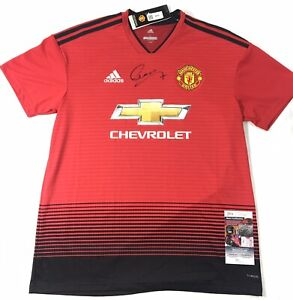 Alexis Sanchez Signed Manchester United Jersey JSA Coa Chile