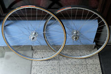 vintage rennrad tubular laufradsatz campagnolo super record pista bahn weinmann