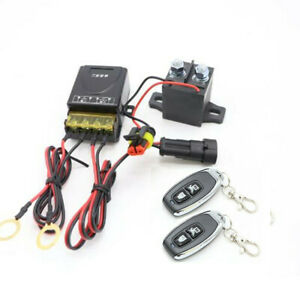 12V Master Battery Disconnect Switch w/2Pcs Upgrade Wireless Remote For Car SUV