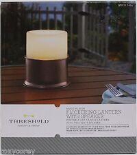 Threshold Portable LED Candle Flickering Lantern With Speaker Music Player NIB