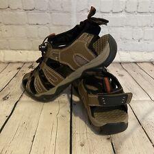 Eddie Bauer Sport Hiking Sandals Shoes Gray Leather Heel Strap Water Men's 10
