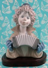 Lladro # 5585 ~ FINE MELODY~ Clown Bust W/Accordion ~ W/Base  BUY1 GET1 50% OFF