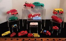 Vintage Hard Plastic Playset Cars & Trucks Ideal, Hubley, Archer, Wyandotte