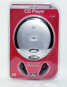 Durabrand CD Player with Headphones CD-566 Silver Portable Digital Display NEW