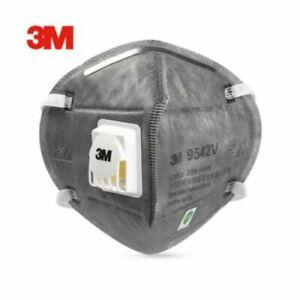 10 x 3M 9542V FFP2 N95 Valved Fold Flat Dust Respirator Headband Face Masks