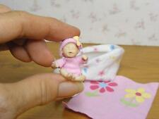 """Ooak Miniature Modern Baby Girl ONLY 1 & 1/2""""  1:12 Dollhouse Doll Mother's Day"""