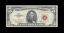 """1963 UNITED STATES NOTE FIVE DOLLARS $5 """"A"""" (( EF+ ))"""