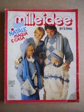 MILLEIDEE n°12 1981 - rivista di moda e lavori femminili  [C53]