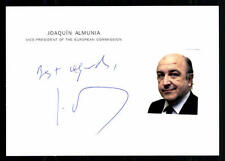 Joaquín almunia original firmado # bc 39523