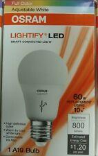 Sylvania 73693 LED Lamp, 120 V, 10 W, Medium E26, A19 Lamp, Smart (3 Pack)