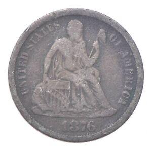 Full Liberty - 1876-CC Seated Liberty Silver Dime *222