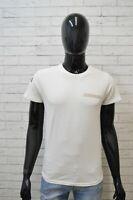 Maglia DSQUARED Uomo Taglia S Maglietta Shirt Cotone Manica Corta Bianca Jersey