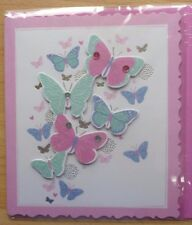 Hand made Ladies open card, any occasion Personalised free