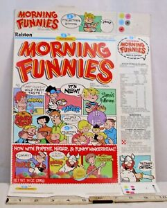 RALSTON MORNING FUNNIES CEREAL BOX 9TH COLLECTORS EDITION