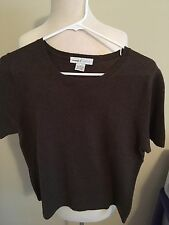 (Y22) Wendy B Cashmere Large Brown Sweater