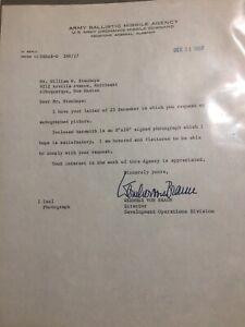 Wernher von Braun Typed Letter Signed Army Ballistic Missile Agency 12/31/59