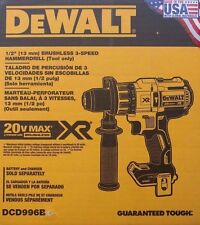 "NEW DEWALT DCD996B 20V 20 Volt Lithium Ion Brushless 1/2"" Hammer Drill Sealed"