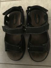 Buster Brown 2M Usa Sandals Boys Brown Hook & Loop Leather Man Made