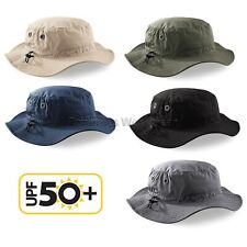 ed577f3417d Beechfield Cargo Bucket Hat UPF 50+ Sun Protection Fishing Safari Summer  (B88)