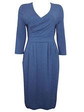 Denim V-Neck 3/4 Sleeve Dresses for Women