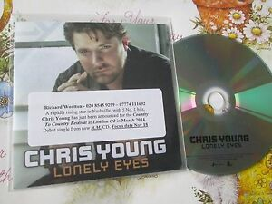 Chris Young Lonely Eyes  Sony Music / Legacy UK Promo CD Single