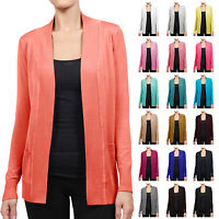 NE PEOPLE Womens Casual Open Front Knit Cardigan Sweater Extra Stretchy[NEWJ123]