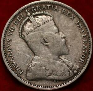 1906 Canada 25 Cents Silver Foreign Coin