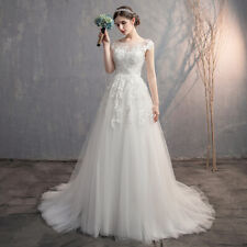 lace simple elegant wedding dress full-length ball gown bridal gown