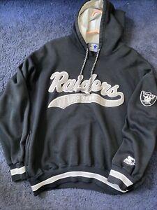 LOS ANGELES RAIDERS Vtg 1990s Hood Hoodie STARTER Sweater Sweat Shirt t jersey L