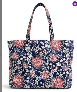NWT Vera Bradley XL Grand Tote in Red White and Blossoms Travel Work 2021