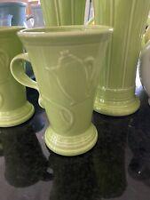 Fiesta Fiestaware Coffee Mug Chartreuse Green Tall Pedestal Cup Latte Espresso