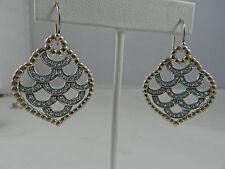John Hardy Naga  Drop  Swiss Blue Topaz Sterling Silver Earrings  $895 NWT