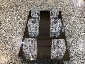 Modern Ice Cube Chrome  Ceiling Light Six Glass Fittings