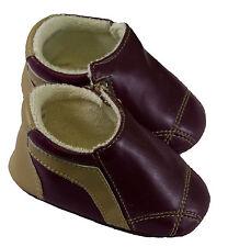JACADI Boy's Rosine Plum Slippers  Age 3 Months Size 19 NWT $32