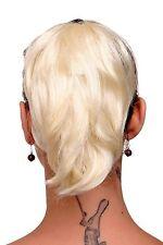Postiche TRESSE extension blond platine court LOOK STYLE déstructuré