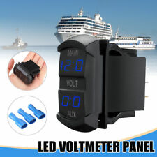 LED DIGITAL DOBLE Voltímetro indicador de voltaje batería PANTALLA PANEL
