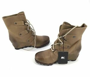 Sorel Women's Brown  Leather Combat Boots - Size 8