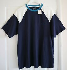 Urban Outfitters iets frans Blue Panel Standard Fit T-Shirt Size S NEW