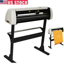 New Listing28 Vinyl Cutter Plotter Cutting Tool Sign Sticker Making 720mm Paper Feed Usa