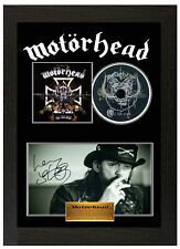Framed Poster Motorhead Lemmy Signed Display Disc CD Collectors Picture