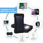 2021 New 2000000mAh LED Dual USB Portable Charger Solar Power Bank for Phone