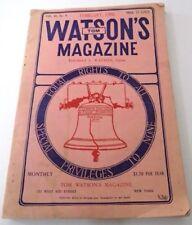Tom Watson's Magazine  Feb 1906 Populism Anti-Trust Political Cartoons
