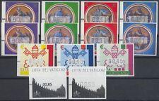 Vaticano-distributori automatici marchi ATM 2002 2004 2008/11-14 X Y, 15-17, 18, 18 ** così