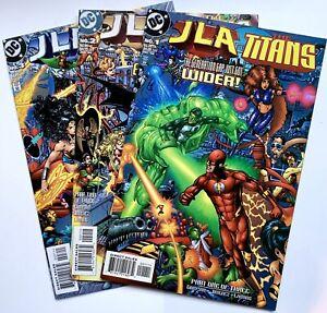 1998 JLA vs TITANS #1-3 Complete Set DC Comics Lot Run 2 Teen Justice League