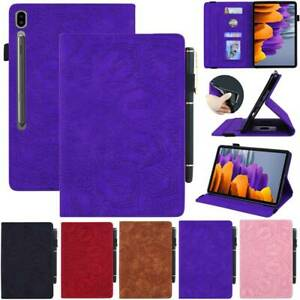"""Leather Stand Case Cover For Samsung Galaxy Tab S7 plus 12.4"""" T975 T970 11"""" T870"""