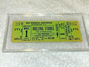 THE ROLLING STONES 1965 UNUSED TICKET Keith Richards Mick Jagger Brian Jones USA