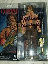 SIGNED! TEXAS  CHAINSAW MASSACRE 3 CLOTHED LEATHERFACE FIGURE NECA  AUTOGRAPHED
