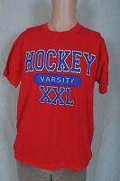 Vintage '80s Varsity Hockey soft screen stars red t shirt L