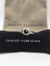 David Yurman Petite Albion Ring With Onyx and Diamonds Size 6